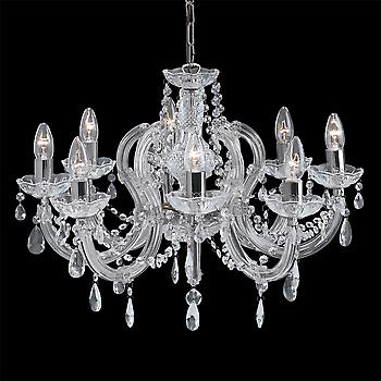 Searchlight 399-8 Marie Therese Chrome 8 Light Chandelier
