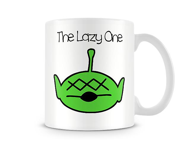 Decorative Writing The Lazy One Printed Text Mug