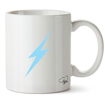 Hippowarehouse Lightning tryckt mugg kopp keramik 10oz
