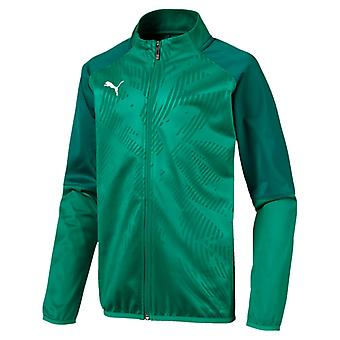 PUMA CUP Training Poly Jacket Core Kinder Poly Jacke Pepper Grün-Alpine Grün