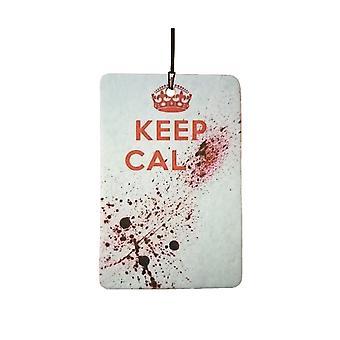 Keep Calm Blood Splatter Car Air Freshener