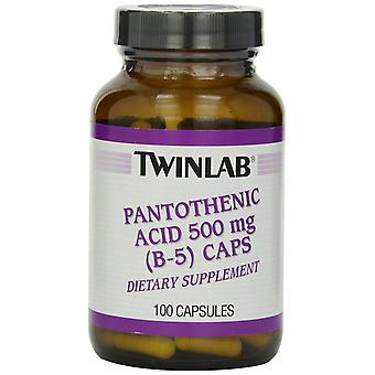 Twinlab Pantothenic Acid B-5 Caps 500 mg 100 Capsules