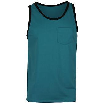 Quiksilver Mens vardagliga Pocket Tank Top - Biscaya blå/svart