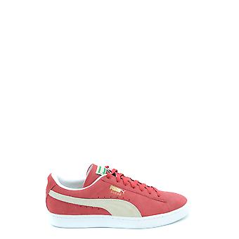 Puma Red Leather Sneakers