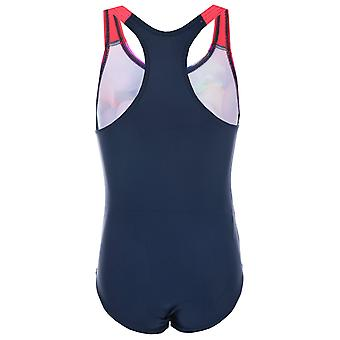 Kleinkinder Speedo Essential Applique Swimsuit In Navy Pink-Grafikdruck