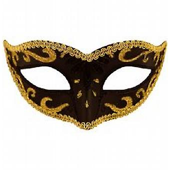 Black Eye Mask met goud trim
