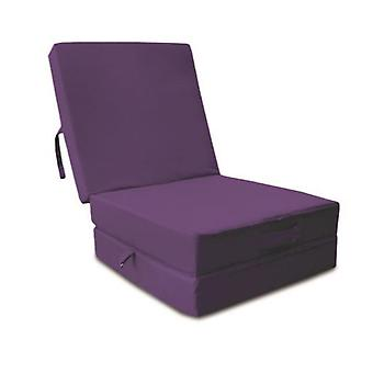 Cotton Fold Out Z Bed Cube - Purple