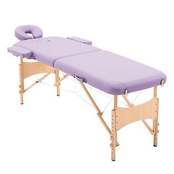 HOMCOM Massage Table Bed Couch Beauty Bed 2 Section Therapy Bed Lightweight Portable Folding Purple New