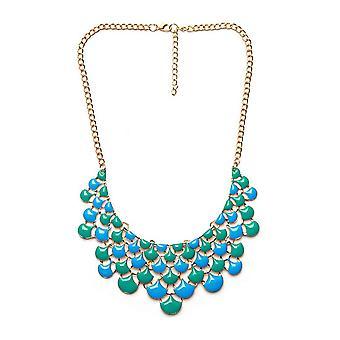Ladies farverig blomst stil juvel erklæring krystal halskæde
