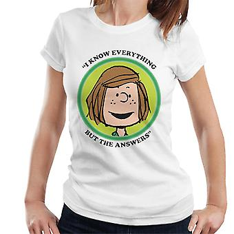 Peanuts Peppermint Patty Badge Women's T-Shirt