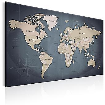 Canvas Print - World Map: Shades of Grey