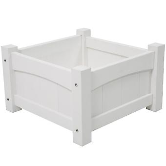 Norfolk Leisure Handpicked Square White Heavy Duty Resin Planter