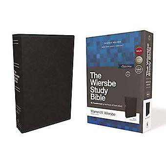 NKJV, Wiersbe Study Bible, Leathersoft, Black, Red Letter Edition, Comfort Print: Be Transformed by the Power of God's Word