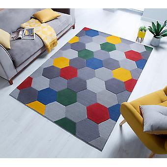 Moderno Munro rot gelb Multi Rechteck Teppiche moderne Teppiche