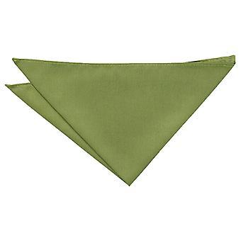 Olive Green shantung Pocket Square