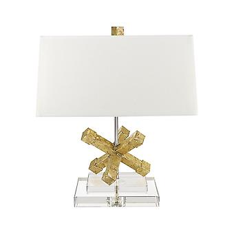 Elstead - 1 Light Square Table Lamp - Gold Finish - GN/JACKSONSQR/TL