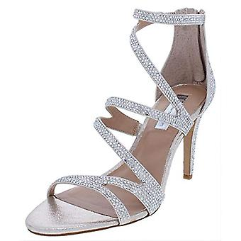INC Womens Regann2 Synthetic Metallic Strappy Sandals