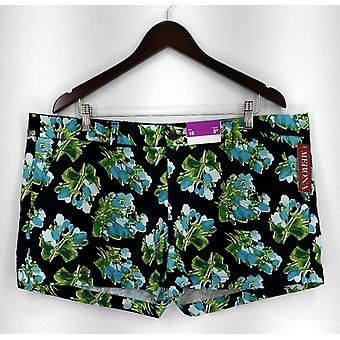 Merona Plus Shorts Imprimé Zipper et Button Closure w/ Pockets Blue