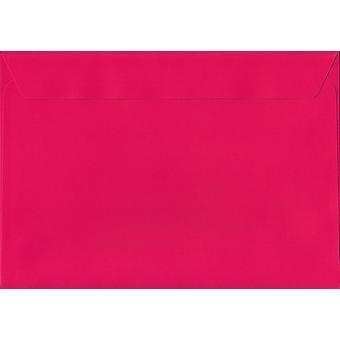 Shocking Pink Peel/Seal C5/A5 Coloured Pink Envelopes. 120gsm Luxury FSC Certified Paper. 162mm x 229mm. Wallet Style Envelope.
