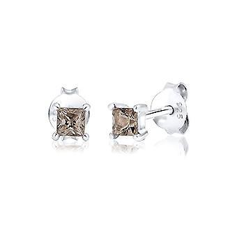 Elli PREMIUM Silver Women's pin earrings - 308970317