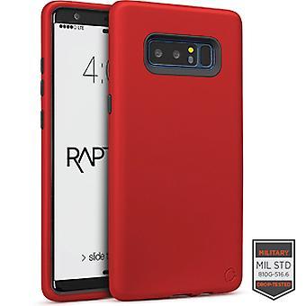 SS Note 8 - Rapture Red/Dark Grey Matte Finish