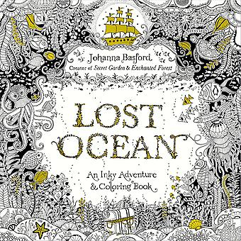 Random House Books-Lost Ocean Coloring Book RA-10899