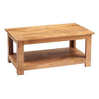 Phoenix Light Mango Coffee Table With Shelf