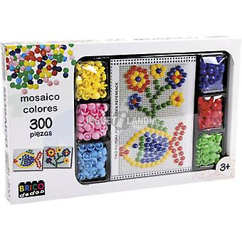 Dimasa Set Color Mosaic 300 Pieces (Kids , Toys , Creativity , Art & Design , Mosaic)
