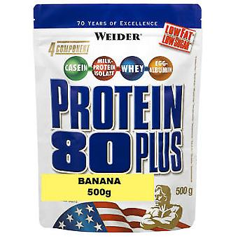 Weider Protein 80 Plus 500g Platano (Sport , Proteins and carbohydrates)