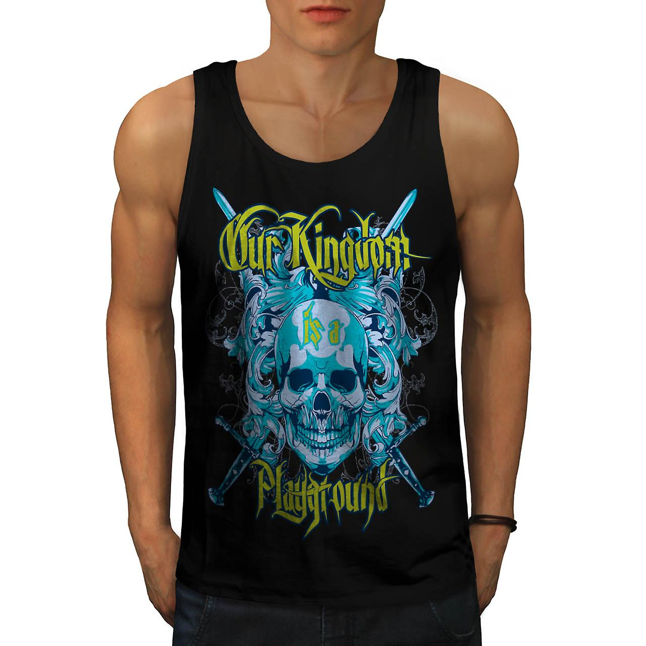 Kingdom Play Ground Monster Game Men Black Tank Top | Wellcoda