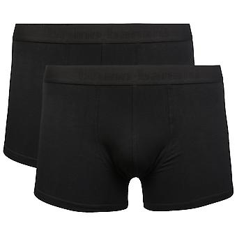 2 Pack bruno banani Flowing shorts men's Boxershorts black 2201-1388-01/1811