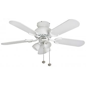 Ceiling Fan Amalfi white with lighting 91 cm / 36