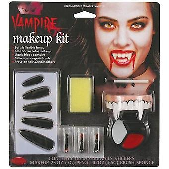Vampiress Countess Make Up Kit Fancy Dress Halloween Vampire Fangs Horror