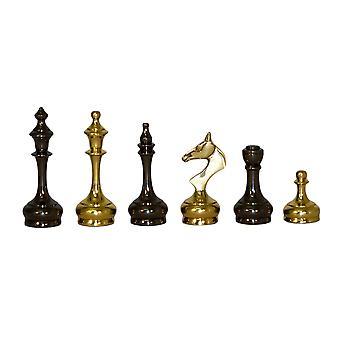 Sistema de los hombres de latón estilo delgado ajedrez
