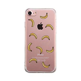 Banana Pattern Transparent Phone Case Cute Clear Phonecase