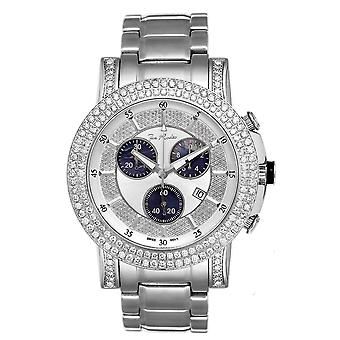 Joe Rodeo diamond men's watch - TROOPER silver 6 ctw