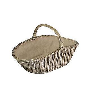 Large Antique Wash Harvesting Wicker Basket
