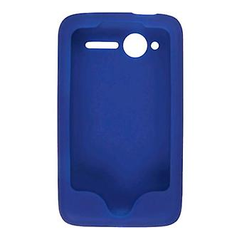 Smooth Silicone Gel Case for HTC Wildfire (CDMA) - Cobalt Blue