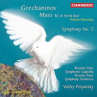 A. Grechaninov - Grechaninov: Massa 'Et in Terra Pax'; Symfonie No. 2 [CD] USA importeren