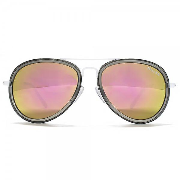 Miss KG Plastic Combo Aviator Sunglasses In Crystal Grey