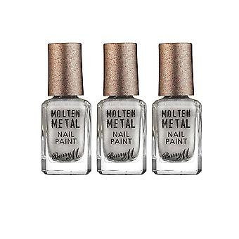 Barry M X 3 Barry M Molten Metal - Holographic Lights