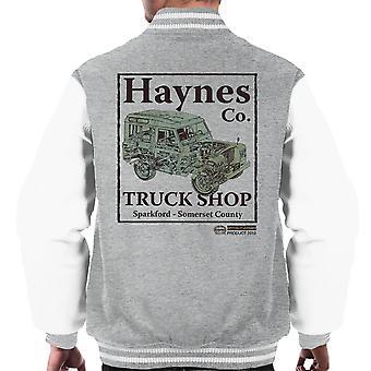 Haynes Marke Truck Shop Sparkford Land Rover Männer Varsity Jacket