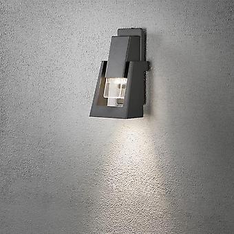 Konstsmide Potenza Grey Oil Lantern Style Garden Wall Light