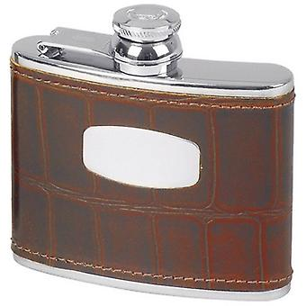 Orton oeste 4oz Croc antiguo estilo Hip Flask - marrón