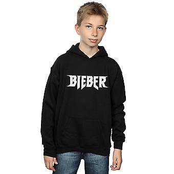 Justin Bieber ragazzi semplice Logo Hoodie