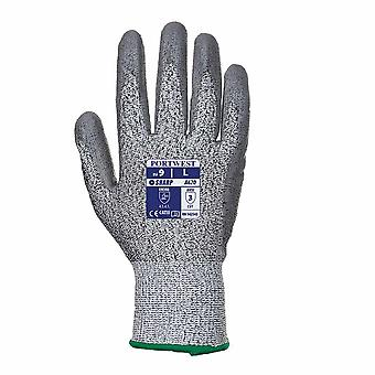 Portwest - 1 Pair Pack Cut 3 Resistant PU Palm Hand Protection Glove