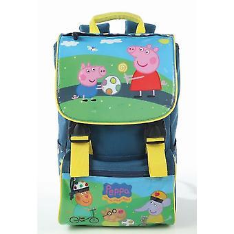 Escuela primaria de Peppa Pig mochila azul Jain