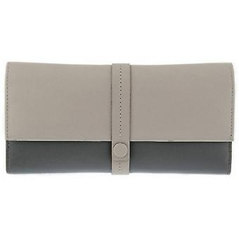 Dents Large Block Colour Purse - Off White/Grey