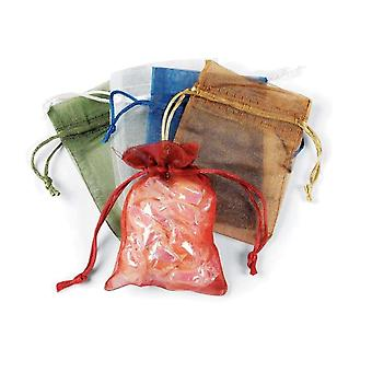 SALE - 12 Assorted Small Drawstring Organza Favour Gift Bags