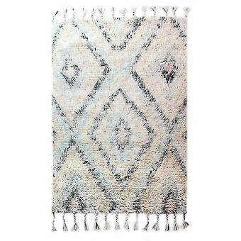 Eclectic Navajo Rugs In Blue And Cream By Luxmi